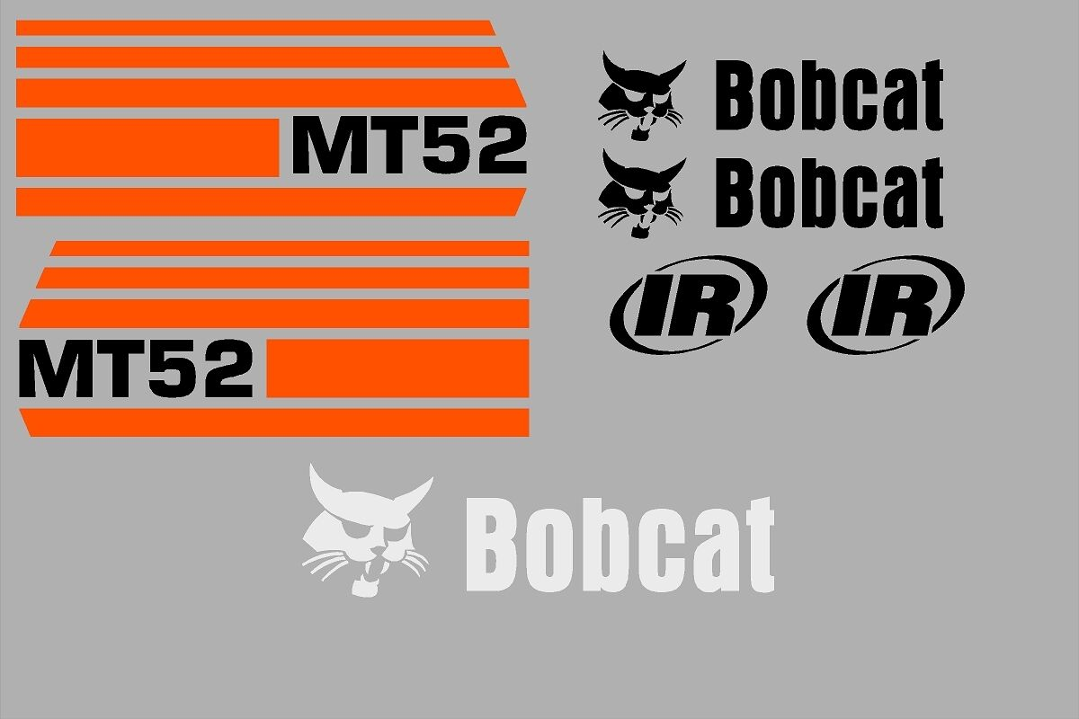 Tractor parts heavy equipment parts accs business industrial mt52 mt 52 new decal kit sticker set mini skid loader skid steer fits bobcat fandeluxe Images