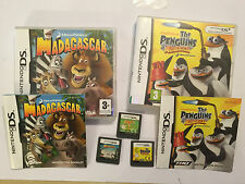 3 NINTENDO DS DSL DSi GAMES DREAMWORK MADAGASCAR ESCAPE 2 AFRICA THE PENGUINS OF