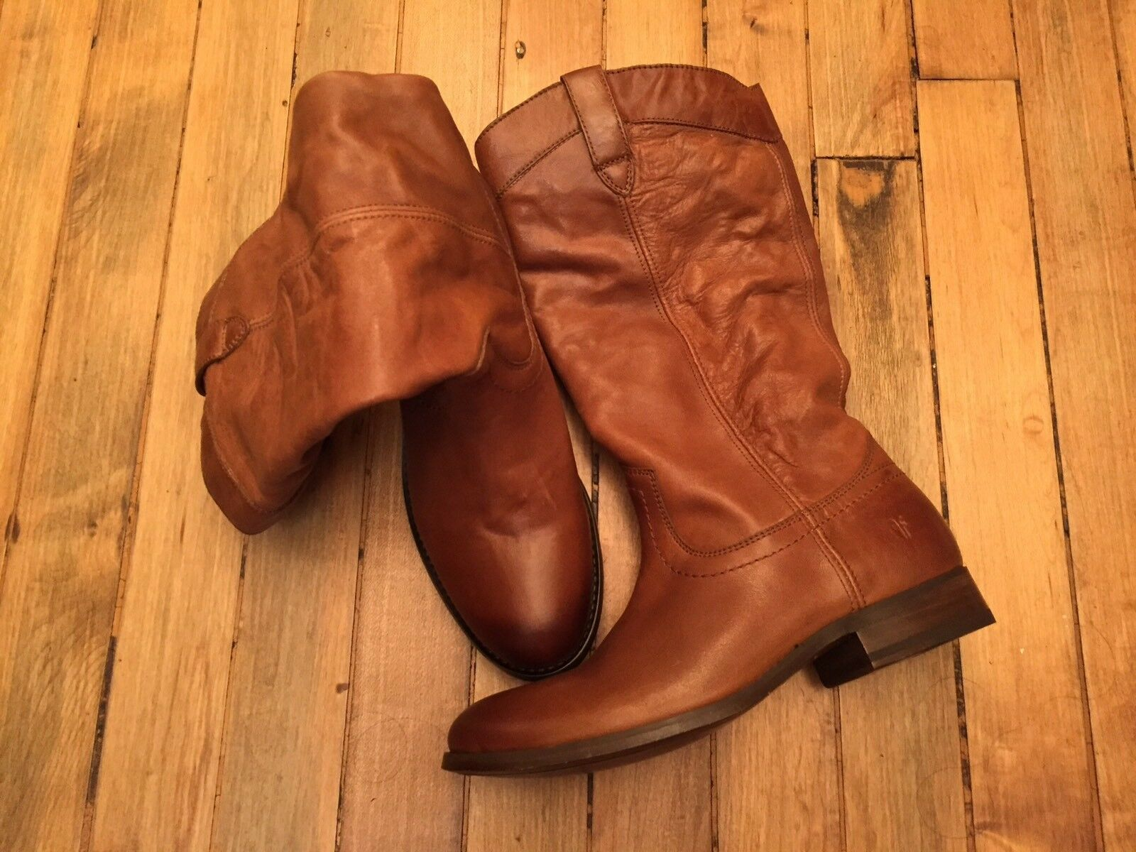 FRYE MELISSA PULL-ON TALL LEATHER BOOTS NEW SIZE 7
