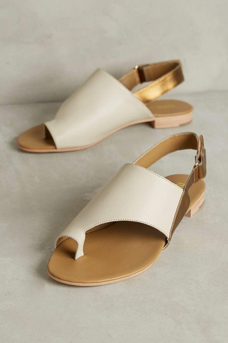 Nina Payne Womens Desi Slides shoes Ivory Bronze 41 Euro (Women US 10) New