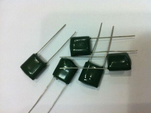 50PCS X 100V 82NF 82000PF 5/% Mylar Film Capacitors Good quality 2A823  J
