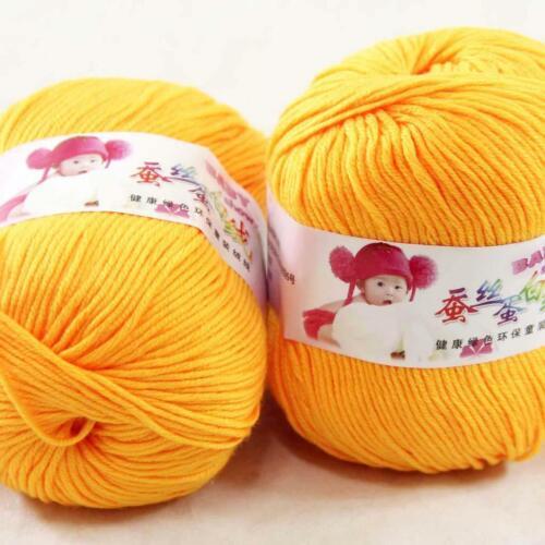 AIPYARN 2Balls x50g Soft Cashmere Silk Velvet Baby Hand Knitting Crochet Yarn 33