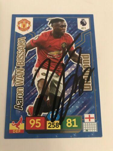 Match Attax 19//20 Aaron Wan-bissaka Manchester United Signé Dédicacé
