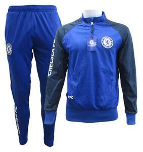 Tuta-ufficiale-Chelsea-FC-completo-Maglia-e-pantaloni-originale-uomo-donna-blues