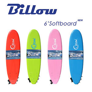 Billow-6-039-Soft-Surfboard-6ft-SoftBoard-with-Leash-amp-Fins