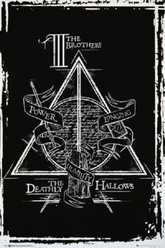 Harry Potter Deathly Hallows Graphic Poster Rolled Size 24x36 by Ebay Seller