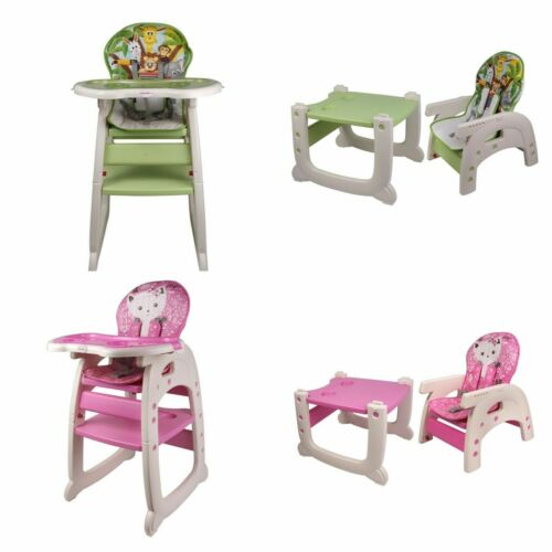 Multi Functional Baby Kids High Chair cushion Table Seat Toddler Feeding High UK