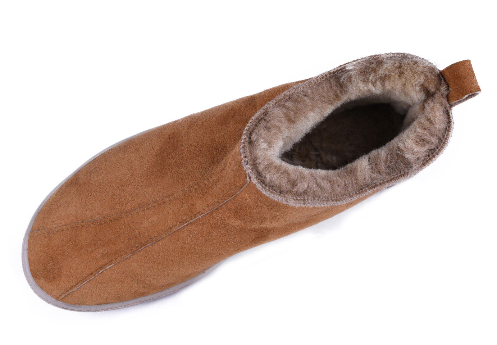 Skandinavische Lammfell Schuhe Leder Mokassin Lederschuhe Hausschuhe für Draußen