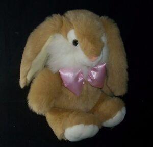 12 Vintage Kids Of America Baby Brown Bunny Rabbit Stuffed Animal
