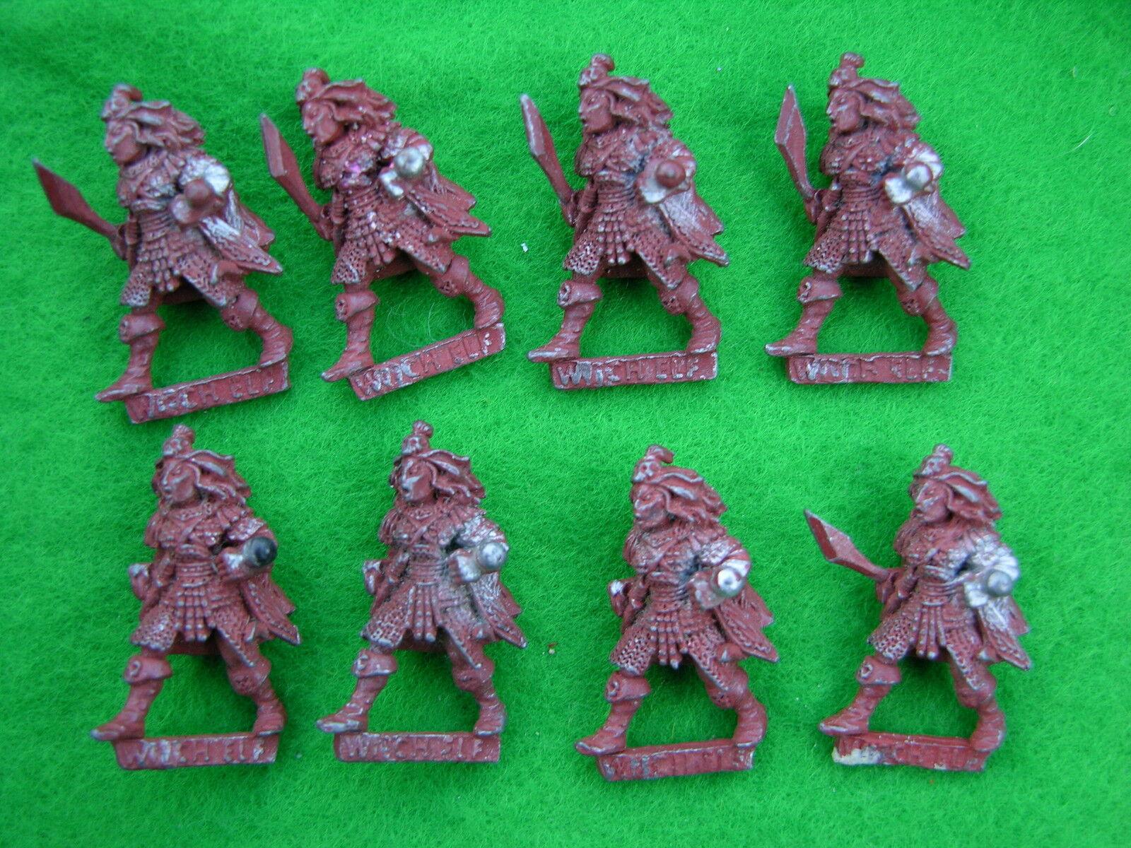 Warhammer Dark Elf, Witch Elfi x 8 Verniciato Sottopelo 1980's