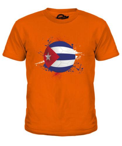 Cuba Bambini Football T-Shirt Tee Top Regalo Coppa del Mondo Sport