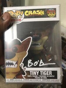 Crash Bandicoot Tiger Funko Pop Signed By Voice Actor Brendan O'Brien
