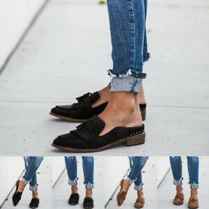 Women-Casual-Leather-Moccasins-Flat-Loafers-Shoes-Comfy-Pumps-Slip-On-Shoes-Size
