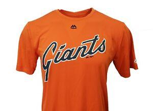 San-Francisco-Giants-Orange-MLB-Majestic-Performance-Wear-T-Shirt-Men-039-s-nwt