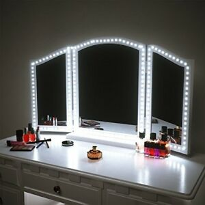 Details About Dressing Table Light Kit Led Makeup Vanity Mirror Lights Strip Bright Dimming