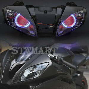 Headlight Hid Assembly Big Blue Angel Red Demon Eyes For Yamaha R6 08 14 09 10 Ebay