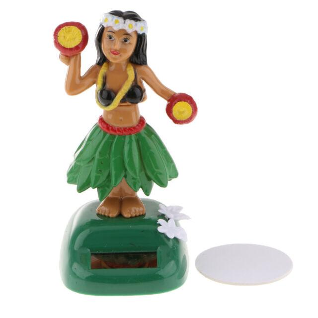 Solar Power Dancing Hula Girl Green Hawaiian Ukulele Guitar