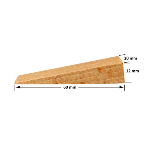 50 Holz Keile Hartholzkeile Buchenholz Montagekeile natur Türstopper Fenster