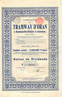 Argelia, Compagnie du Tramway d` Oran a Hammam-Bou-Hadjar SA, accion div., 1912