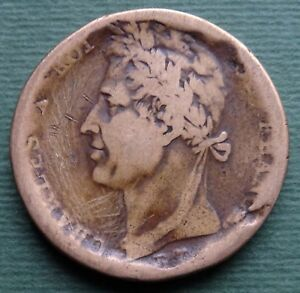 1827-French-colonies-Coin-10-Centimes-CHARLES-X-ROI-DE-FRANCE-KM-11-RARE