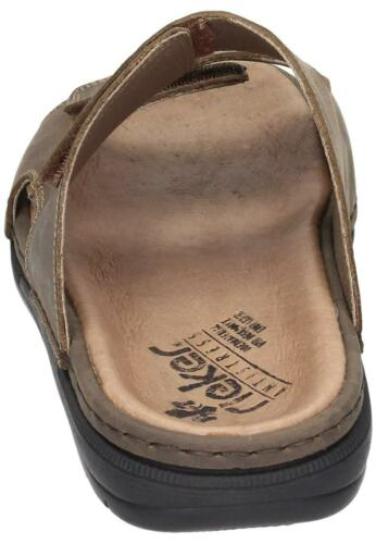 Rieker 25592-25 Mules velcro cuir Chaussures hommes 40-46 neu28