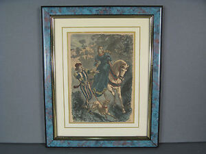 GRAVURE ANCIENNE / GRAVURE CHASSE A COURRE