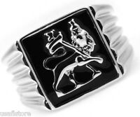 Mens Lion Of Judah Silver Stainless Steel Ring