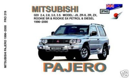JPNZ Mitsubishi Pajero Mk3 96-00 English Owner Handbook