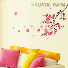 Pink & White Cherry Blossom Large Home Decor Vinyl Wall Sticker Art Decal