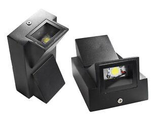 Applique led parete doppia emissione watt esterno luce bianca