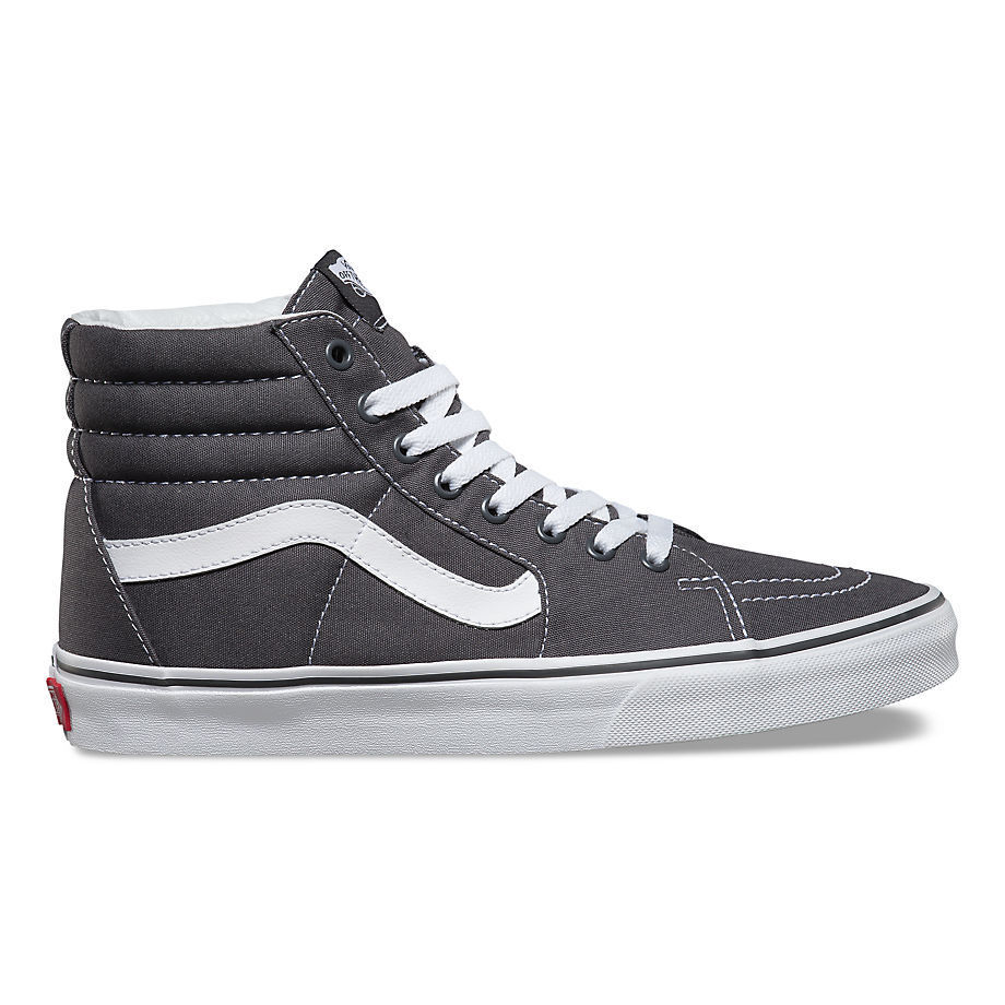 Vans Authentic Sk8 Hi Canvas Asphalt Grey Black White Era Old Skool Mens Womens