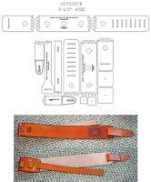 3-1/2 Super Fatboy Guitar Sling Template Set - Leathercraft -new Item- Gsts35fb