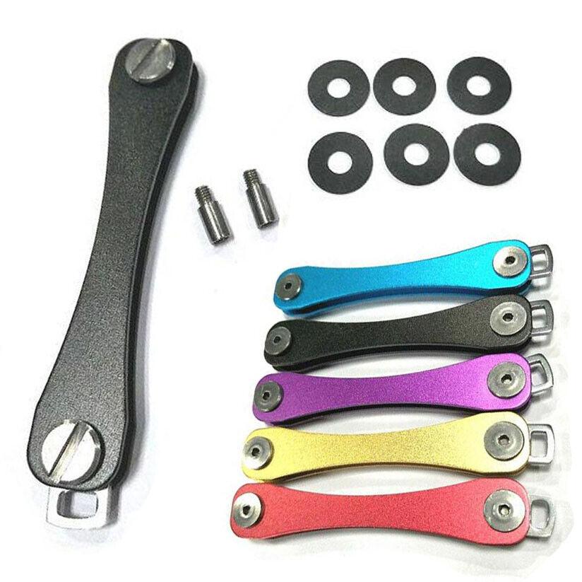 2 PCS Compact Key Smart Holder Aviation Aluminum Organizer Keychain Pocket Tool