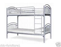 Yorkshire Metal Bunk Bed Free P&p