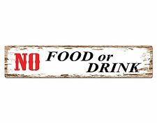 SP0487 NO FOOD or DRINK Street Sign Bar Store Cafe Office Restaurant Chic Decor