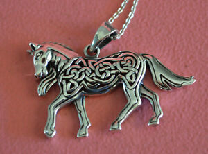 Equestrian celtic horse charm necklace 925 sterling silver horse image is loading equestrian celtic horse charm necklace 925 sterling silver aloadofball Images