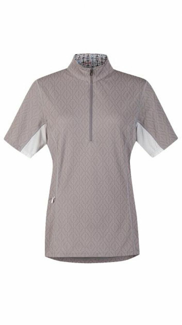 Kerrits Hybrid II Riding  Shirt-Dove-L  great selection & quick delivery