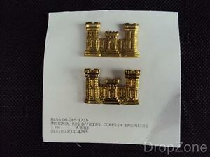 NEW-US-Army-Military-Corps-of-Engineers-Collar-Badges-Insignia