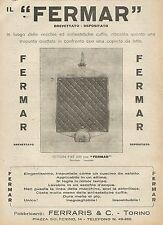 Y0801 Vettura FIAT 509 con Fermar - Pubblicità 1927 - Advertising