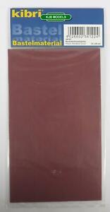 BNIB-OO-HO-GAUGE-KIBRI-34122-BRICK-WALL-PLASTIC-SHEET-12cm-x-20cm