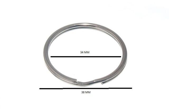Split Key Rings 38mm 1 1/2 Inch Nickel Plated Steel Pack Of 50