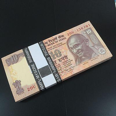 2011-2017 Lot Pack P-102 Bundle 100 PCS UNC India 10 Rupees