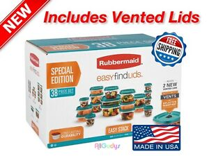 Rubbermaid-Food-Storage-38-Piece-Set-with-Vent-Easy-Find-Lids-Teal-SPECIAL-ED