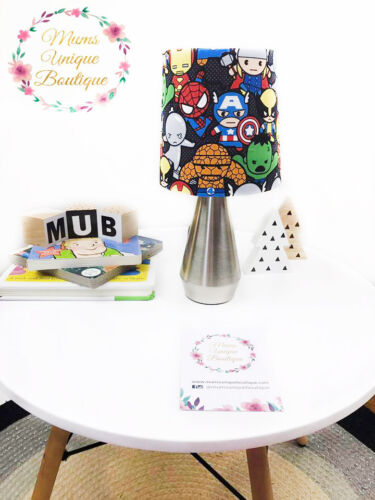 Marvel Kawaii Hero Lamp Baby Children Nursery Table Lamp Night Light Touch Lamp