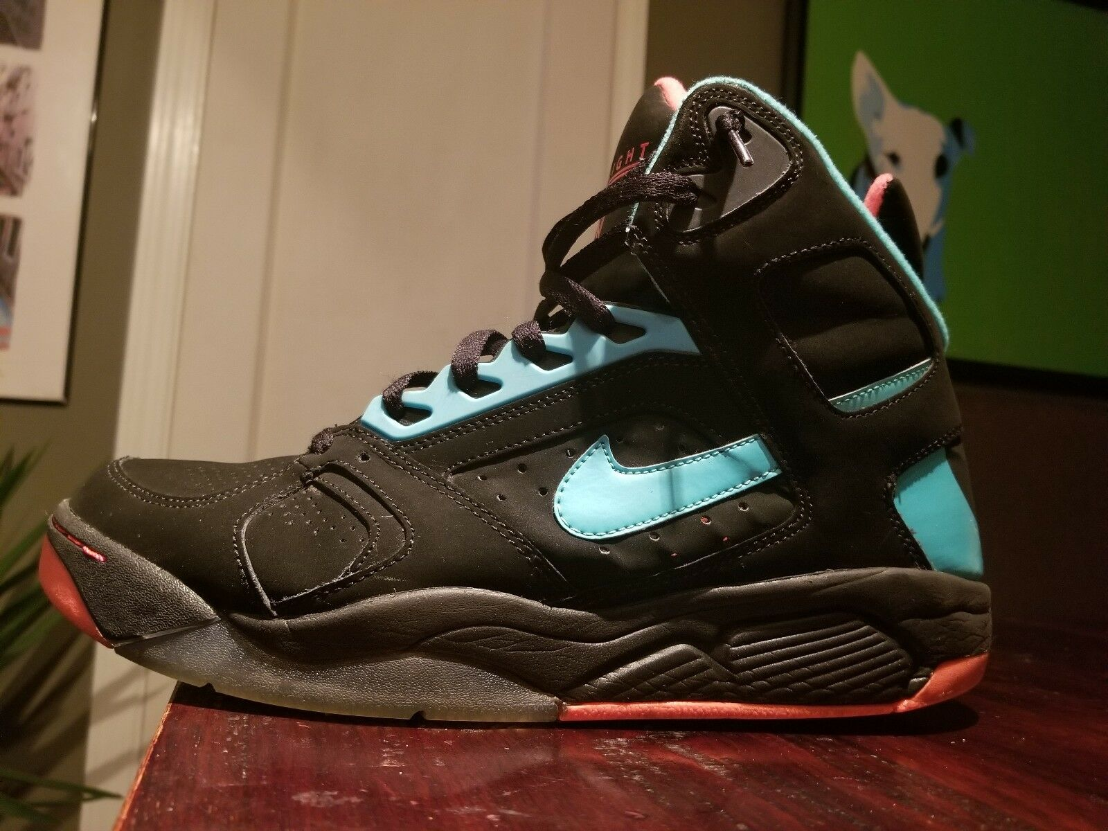 Nike Air Flights Miami vice color scheme Wild casual shoes