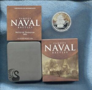 2010-1-Battle-of-Trafalgar-1805-FAMOUS-NAVAL-BATTLES-SILVER-PROOF-COIN-War