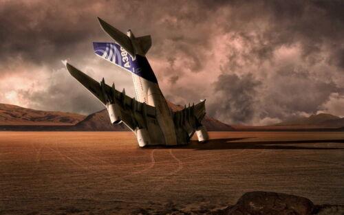 Airbus A380 In The Desert Men T-Shirt Tee S M L XL 2XL 3XL