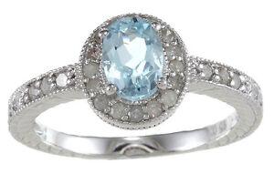 1-50ct-Original-Topacio-Azul-Anillo-con-Diamante-Estilo-Vintage-Plata-de-Ley-925