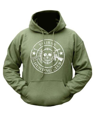 US Marines Army USMC Military Taliban Hunting Club HOODIE Green Unisex All Sizes