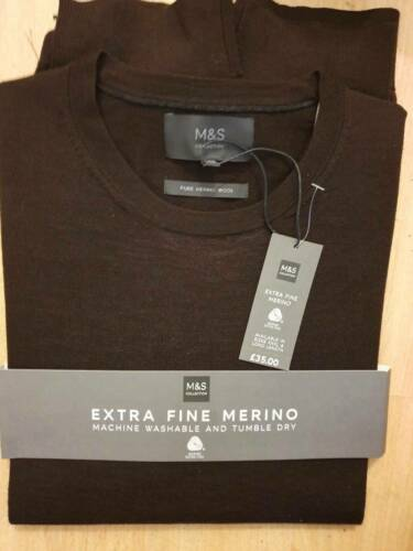 Medium 38-40 tour de poitrine Extra Fine Laine Merino Pull Marks /& Spencer livraison gratuite